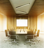 Modern conference room interior toning Royalty Free Stock Image