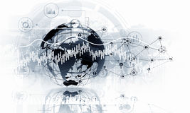 Modern connection technologies background . Mixed media royalty free stock image
