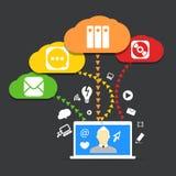 Modern conputer communication scheme Stock Images