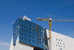 Modern Construction. A modern building under construction in Astana, Kazakhstan Royalty Free Stock Photo