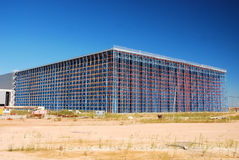 Modern construction architecture. Modern architecture of large business construction center Stock Photo