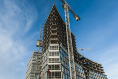 Modern Construction. Modern Building Construction In Liverpool Royalty Free Stock Images