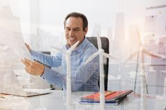 Positive eco engineer working on the project Royalty Free Stock Images