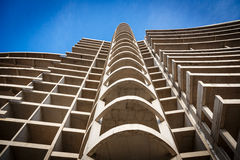 Modern construction of concrete building Royalty Free Stock Image