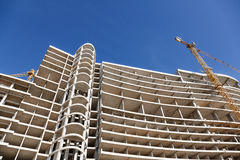 Modern construction of concrete building Royalty Free Stock Photos