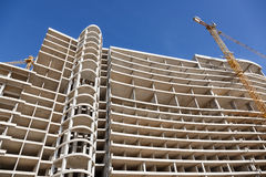 Modern construction of concrete building Royalty Free Stock Photo