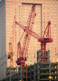 Modern Construction with Cranes Royalty Free Stock Images