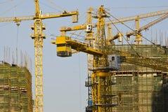 Modern Construction site close up at China.  Stock Photo