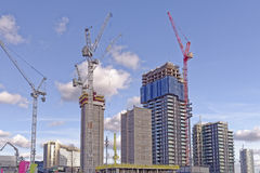 Modern construction site Stock Photography