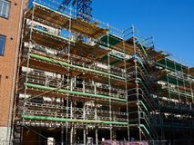 Modern construction site with scaffold platform sytem Stock Photo