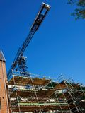 Modern construction site with scaffold platform sytem Royalty Free Stock Images