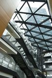 Modern constructions. The atrium. The fragment of the interior of the modern building Royalty Free Stock Photo