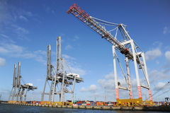 Modern container port Stock Photos
