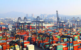 Modern container terminals, hong kong Royalty Free Stock Image