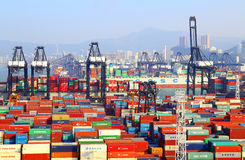 Modern container terminals, hong kong Stock Photography