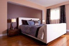 Modern contemporary apartment bedroom interior design after bamb Royalty Free Stock Photos