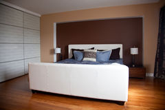 Modern contemporary apartment bedroom interior design after bamb Royalty Free Stock Images