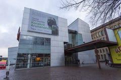 Modern contemporary art museum building. Helsinki, Finland - December 27, 2017: modern contemporary art museum building is located at helsinki finland stock image