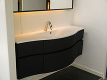 Modern contemporary designer bathroom Stock Image