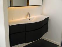 Modern contemporary designer bathroom. Details of a modern trendy contemporary designer bathroom Stock Image