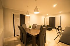 Modern Contemporary Dining Area royalty free stock photo