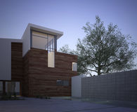 Modern contemporary house exterior at dawn Stock Images