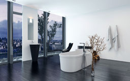 Modern contemporary luxury bathroom interior Royalty Free Stock Images
