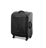 Modern convenience suitcase on casters Stock Photo
