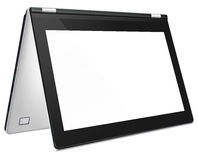Modern convertible laptop with blank screen Stock Photo