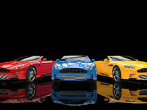 Modern convertible sports cars Royalty Free Stock Images