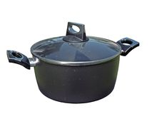 Modern cooking pot Royalty Free Stock Image