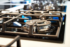 Modern cooking zone gas stove Stock Photos