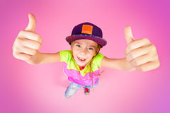 Modern cool kid Royalty Free Stock Photos