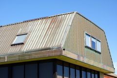 Modern Copper Clad Roof Royalty Free Stock Photos