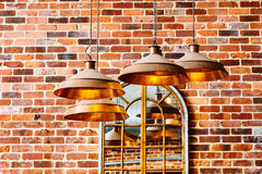 Modern copper lights Royalty Free Stock Photography