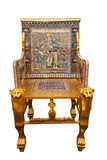 Modern copy of the Golden Throne of king Tutankhamun Stock Photo