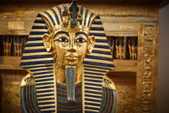 Modern copy of Tutankhamun's funerary mask royalty free stock photos