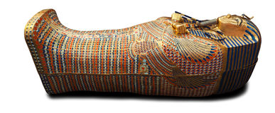Modern copy of Tuthankamen's golden sarcophagus Stock Image