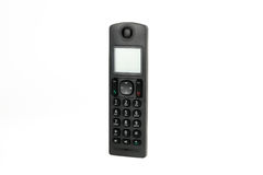 Modern cordless dect phone. On white background royalty free stock photography