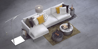 Modern corner sofa royalty free stock images