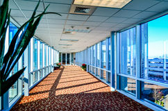 Modern corporate architecture skywalk Stock Photos