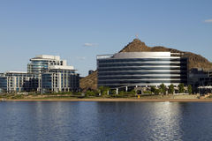 Modern Corporate Buildings On The Lake Stock Image