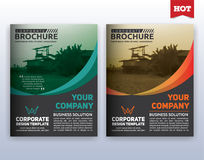 Modern corporate business flyer layout design. Multipurpose modern corporate business flyer layout design. Suitable for flyer, brochure, book cover and annual royalty free illustration