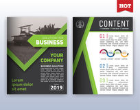 Modern corporate business flyer layout design. Multipurpose modern corporate business flyer layout design. Suitable for flyer, brochure, book cover and annual stock illustration