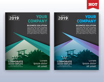 Modern corporate business flyer layout template. Multipurpose modern corporate business flyer layout design. Suitable for flyer, brochure, book cover and annual vector illustration