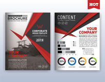 Modern corporate business flyer layout template Royalty Free Stock Photo