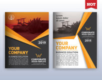 Modern corporate business flyer layout template. Multipurpose modern corporate business flyer layout design. Suitable for flyer, brochure, book cover and annual Royalty Free Stock Photo