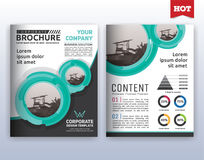 Modern corporate business flyer layout template. Multipurpose modern corporate business flyer layout design. Suitable for flyer, brochure, book cover and annual stock illustration