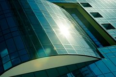 Modern corporate glass building Royalty Free Stock Image