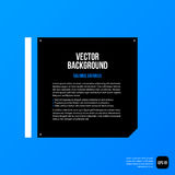 Modern corporate graphic template with black elements on blue background Stock Photography
